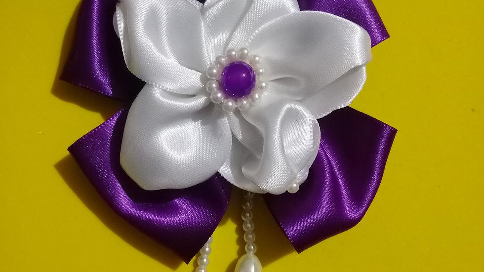 Purple pearl bow