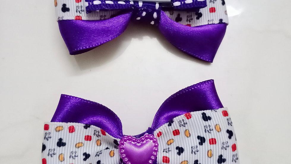 Ribbon twin bow