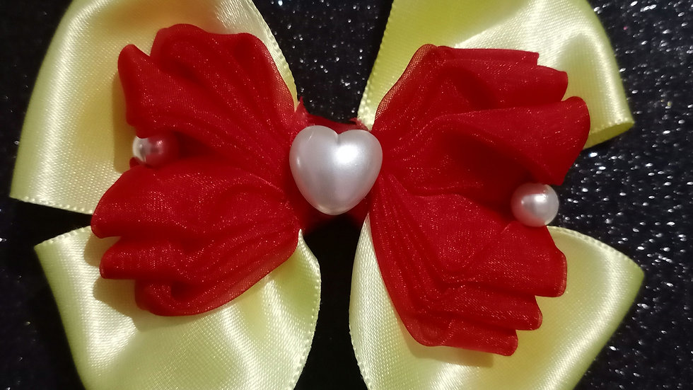 Red and Yellow Ribbon bow