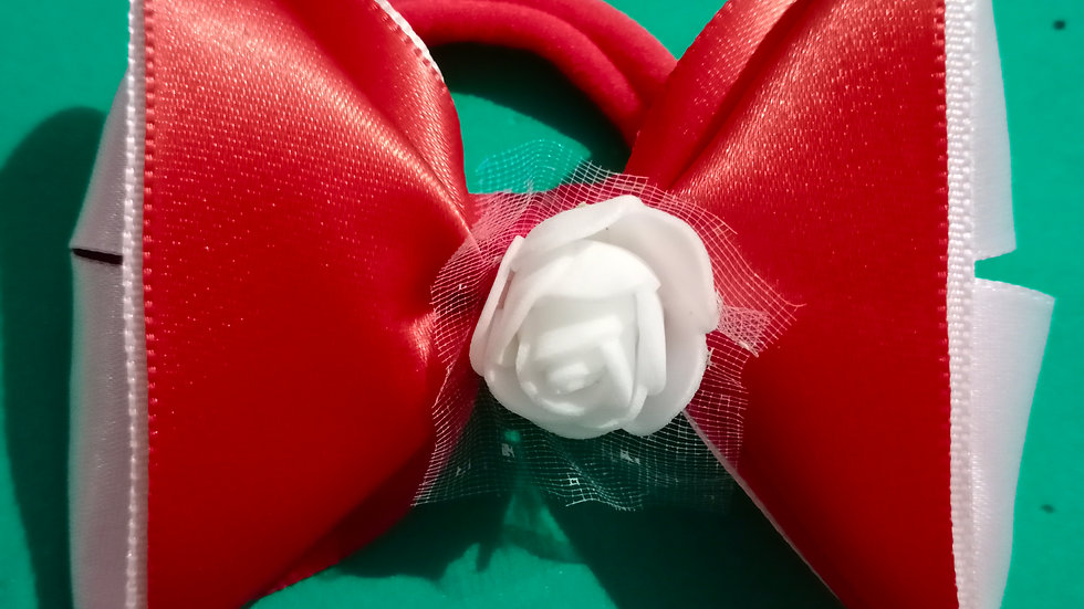 Red and White Ribbon bow