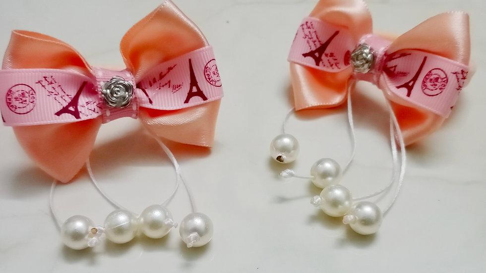 Ribbon and pearl bow