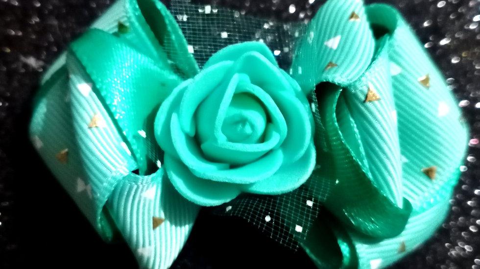 Aqua Green ribbon bow