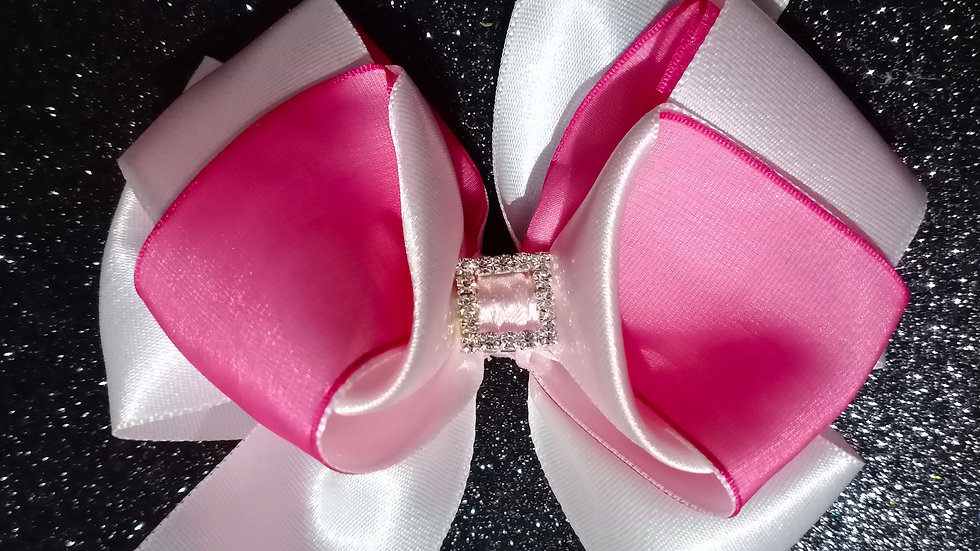 White and Pink Big Bow