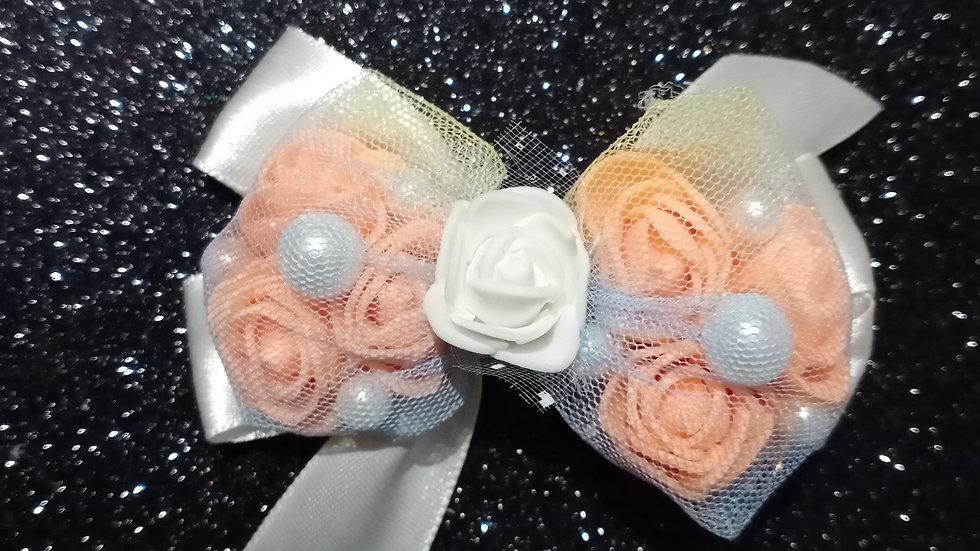 Roses n Pearl Bow