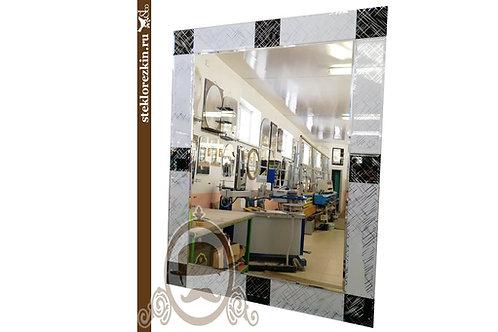 Зеркало №113 рамка Лабиринт диагональный Созвездие чёрный серебристный | Купить | На заказ размер | Стекло и Зеркала | Брянск