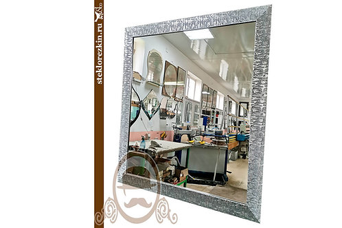 Зеркало №143 зеркало в багетной раме серебристо серого цвета | Купить | Индивидуальный размер | Стекло и Зеркала | Брянск