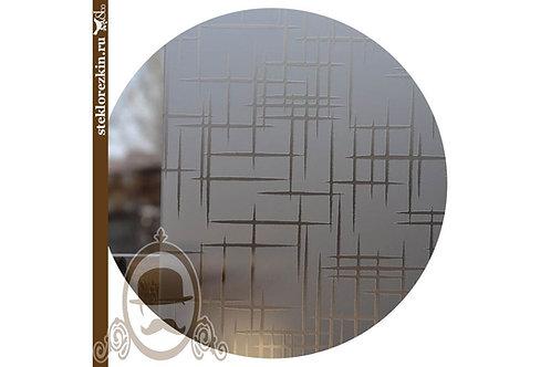 Стекло узорчатое «Лабиринт» | «Созвездие» (Бронзовое, Матовое)