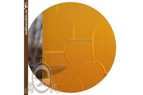 Стекло рельефное «Пазлы» | «Туркуаз» (Золотое, Скрин)
