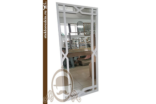 Зеркало №187 в полный рост белая металлическая рамка DIY LOFT   Купить   Заказать под размер   Стекло и Зеркала   Брянск