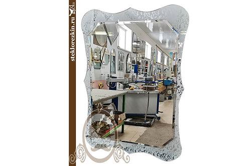 Зеркало №174 (Иви/Вьюн серебро, вертикальное)