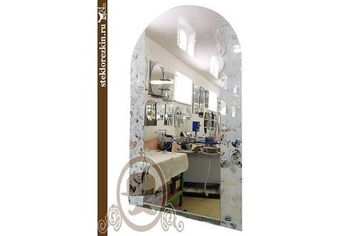 Зеркало №81.1 красивое арочное стекло узоры Лабиринт диагональ серебрянное | Купить | Вырезать | Стекло и Зеркала | Брянск