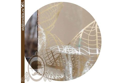 Зеркало узорчатое «Листья» (Серебряное)