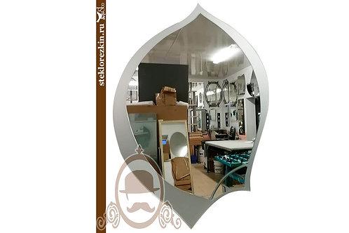 Зеркало №44.2 каплевидное форма пера серебро декор | Купить | Изготовить заказ необычная форма | Стекло и Зеркала | Брянск