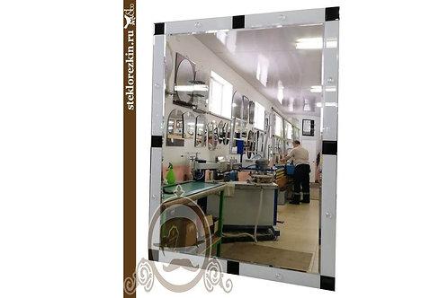 Зеркало №87 прямоугольное с глянцевым стеклом Лакобель и декором в коридор | Купить | На заказ | Стекло и Зеркала | Брянск