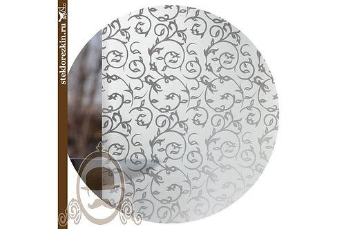Стекло узорчатое «Иви» | «Вьюн» (Бесцветное, Матовое)