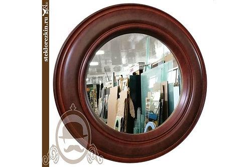 Зеркало №91 с необычным бестыковочным багетом Кожа коньяк в гостинную   Купить   Изготовление   Стекло и Зеркала   Брянск