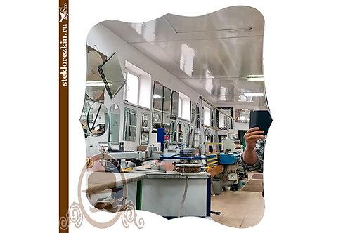 Зеркало №147.3 квадратная форма криволинейная резрка и кромка | Купить | По размеру заказа | Стекло и Зеркала | Брянск