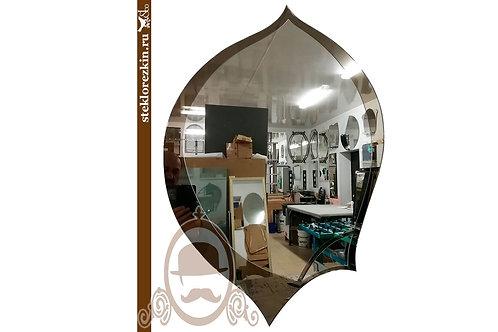 Зеркало №54 каплевидное форма пера бронзовое декор   Купить   Изготовить на заказ необычная форма   Стекло и Зеркала   Брянск