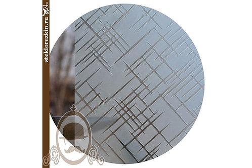 Стекло узорчатое «Лабиринт диагональ» (Бесцветное, Матовое)