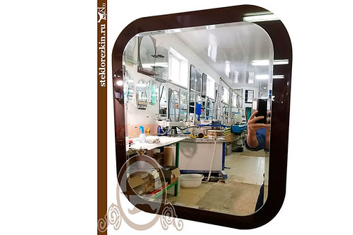 Зеркало №136 закругленные углы коричневое lacobel Лакобель в ванную коридор | Купить | Заказать | Стекло и Зеркала | Брянск