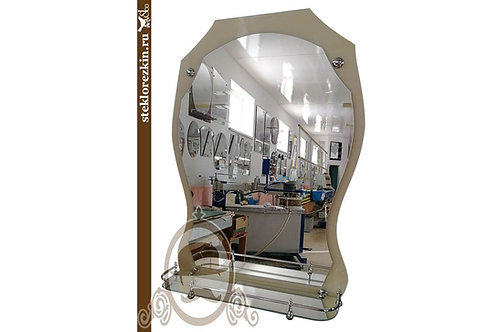 Зеркало №72 (Лакобель, бежевое)