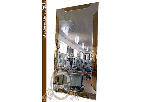 Зеркало №145.1 современный стиль дизайн золотое цвет золотой | Купить | Изготовить по размеру | Стекло и Зеркала | Брянск