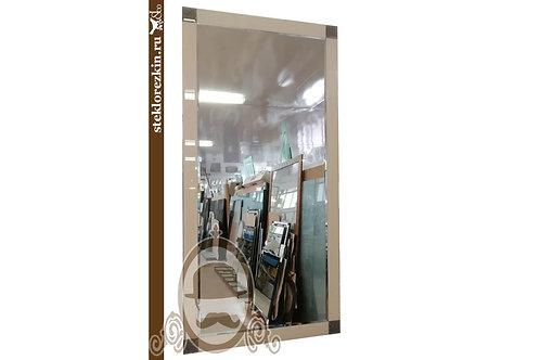 Зеркало №119 прямоугольная рамка из текла Лакобель цвет бежевый в прихожую | Купить | Заказать | Стекло и Зеркала | Брянск