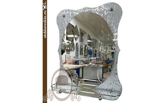 Зеркало №172 (Колотый лёд, с полкой)