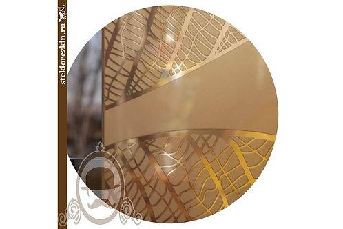 Зеркало узорчатое «Листья» (Бронзовое)