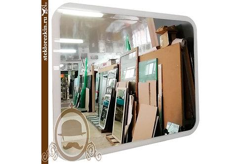 Зеркало №132 горизонтальное белая рама Лакобель ванная коридор   Купить магазин зеркал   Заказать   Стекло и Зеркала   Брянск