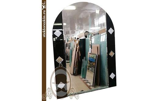 Зеркало №97 арочной формы с глянцевым чёрным стеклом Lacobel в ванную | Купить | Изготовление | Стекло и Зеркала | Брянск