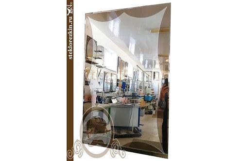 Зеркало №117 красивое необычной формы восьмиугольник бронза ванную | Купить | Заказать под размер | Стекло и Зеркала | Брянск