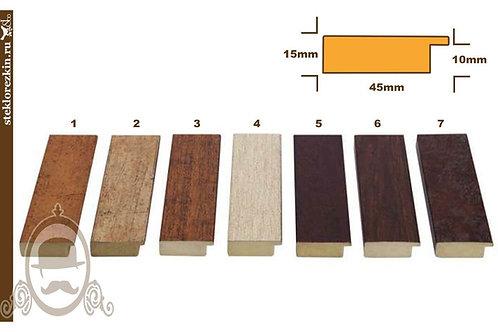 Серия 48 широкий плоский пластиковый багет иммитация дерева | Купить | Багет для картин из пазлов | Стекло и Зеркала | Брянск