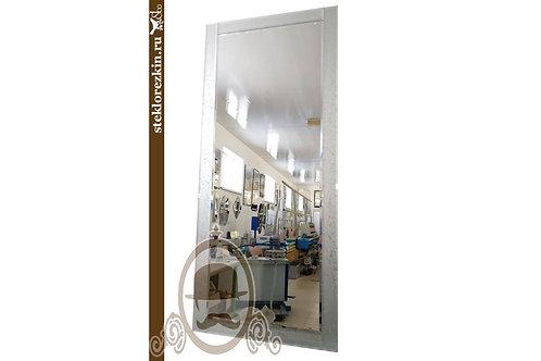 Зеркало №85 прямоугольное рамка из узорчатое непрозрачное стекло Колотый лёд | Купить | Сделать | Стекло и Зеркала | Брянск