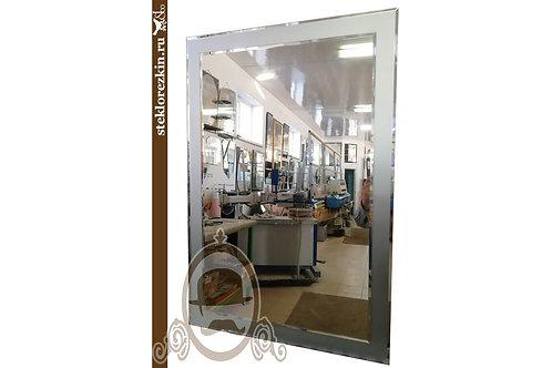 Зеркало №116 прямоугольное цельная зеркальная матовая серебристая рамка | Купить | Сделать | Стекло и Зеркала | Брянск