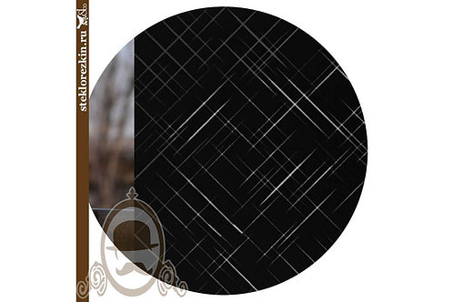 Зеркало узорчатое «Лабиринт диагональ» (Чёрное)