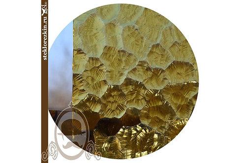 Стекло рифлёное рельеф Атлантик золото, жёлто-золотое | Заказать резку по размеру двери, фасада | Стекло и Зеркала | Брянск