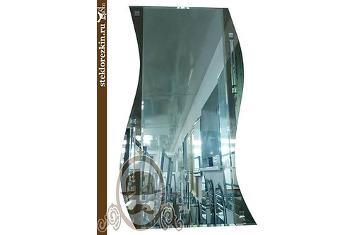 Зеркало №78 прямоугольное зеркало прихожую коридор волнами с фацетом | Купить | Сделать на заказ | Стекло и Зеркала | Брянск