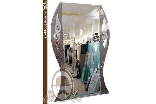 Зеркало №83 приталенное с узорчатым зеркалом Созвездие в прихожую коридор | Купить | Изготовление | Стекло и Зеркала | Брянск