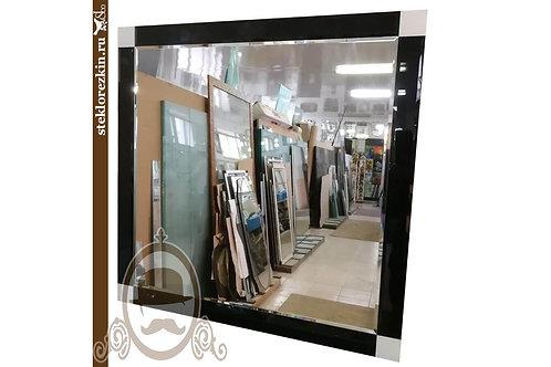 Зеркало №118 квадратное рамка из чёрного стекла Лакобель парикмахерской | Купить | Заказать | Стекло и Зеркала | Брянск