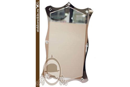 Зеркало №11.1 красивое необычной формы шестиугольник бронза ромбы | Купить | Заказать под размер | Стекло и Зеркала | Брянск