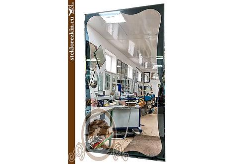 Зеркало №152.1 волны изгибы на цельной подложке цвет графит с фацетом | Купить | Магазин на заказ | Стекло и Зеркала | Брянск