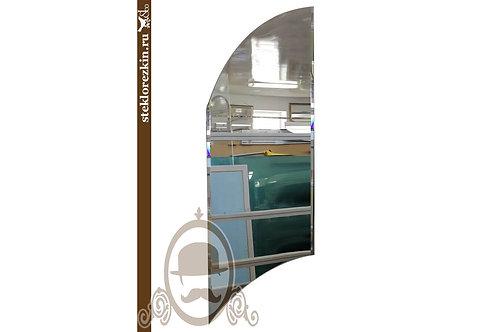 Зеркало №33 классическое недорогое со скосами по форме Плавник | Купить | На заказ | Мои размеры | Стекло и Зеркала | Брянск