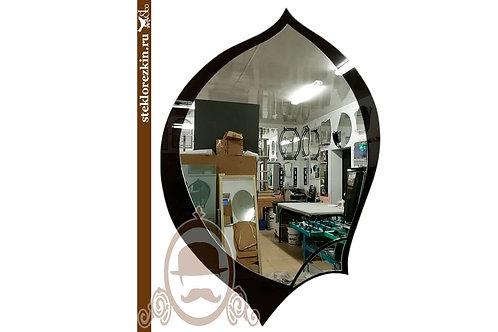 Зеркало №44.3 форма капля листок перо лакобель чёрное | Купить | Изготовление под заказ | Стекло и Зеркала | Брянск