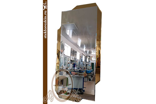 Зеркало №162 под современный дизайн интерьера с золотой рамкой в спальню   Купить   Под заказ   Стекло и Зеркала   Брянск