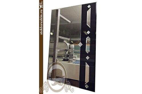 Зеркало №21 «Роялти» (Лакобель, чёрное)