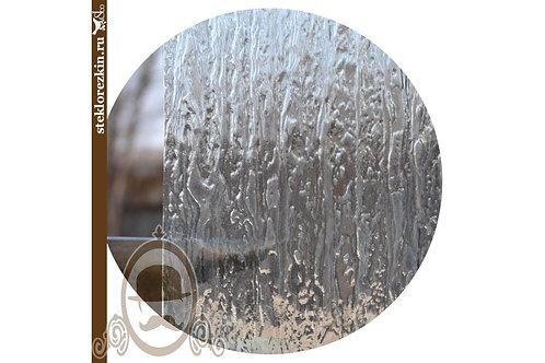 Стекло рифленое рельеф Водопад прозрачное, бесцветное | Нарезка по размеру фасада двери | Стекло и Зеркала | Брянск