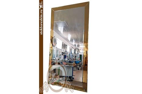 Зеркало №146 прямоугольное фацет с золотой рамкой | Купить из наличия магазин | Вырезать на заказ | Стекло и Зеркала | Брянск