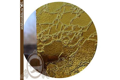 Стекло рельефное «Дельта» | «Сузорье» (Золотое)