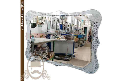Зеркало №176 (Иви/Вьюн серебро, горизонтальное)